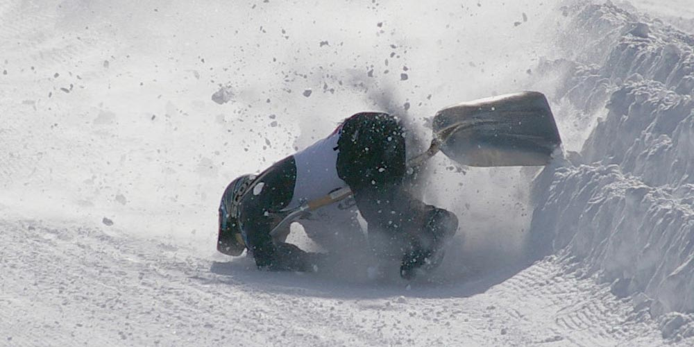 Shovel Racing and other strange sports played in cold weather