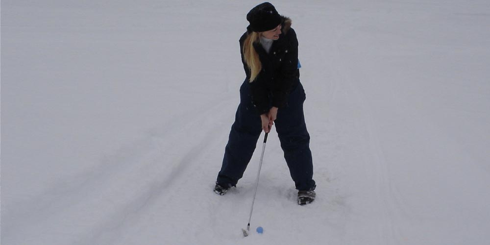 Snow Golf inventor Tina Blomme, Sports played in winter