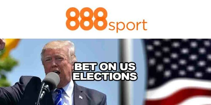 Promotion to Bet on US Elections at 888sport – Get £40 in Free Bets
