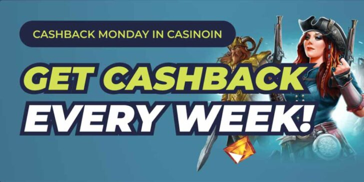 Casinoin Casino Weekly Cashback: Take Part and Win Every Week