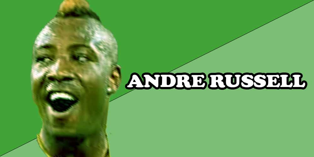 West Indies cricket players ANDRE RUSSELL