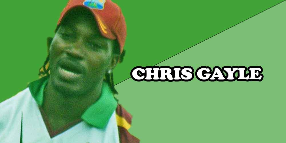 West Indies cricket players CHRIS GAYLE