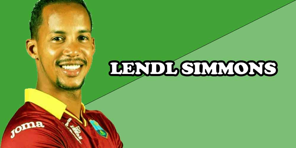 West Indies cricket players LENDL SIMMONS