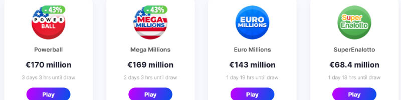 Online lottery tickets at MegaRush Casino, Megalotto online lotto tickets