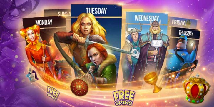 free spins for a week