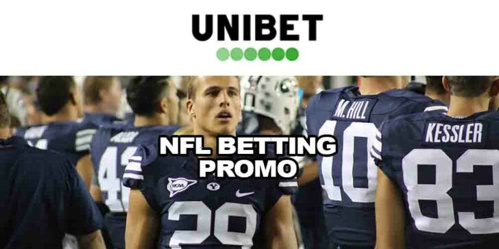 NFL Betting Promo at Unibet Sportsbook – Get a €5 Free Bet