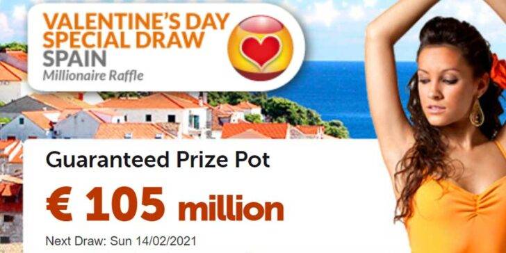 Buy Special Valentine's Day Lotto Ticket at Wintrillions