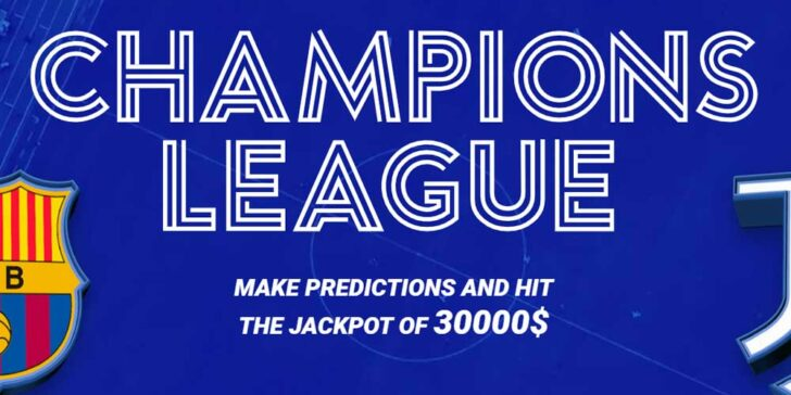 UCL Betting Jackpot: Make Predictions and Hit the Jackpot of 30000$