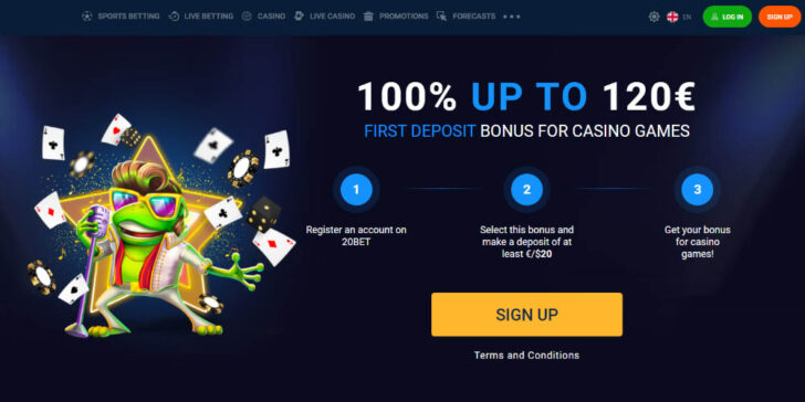 the latest review about 20Bet casino Welcome Bonus