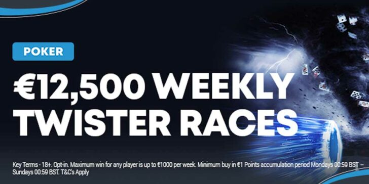 Weekly cash prizes for poker