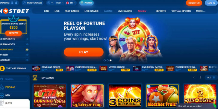 The latest review about Mostbet Casino