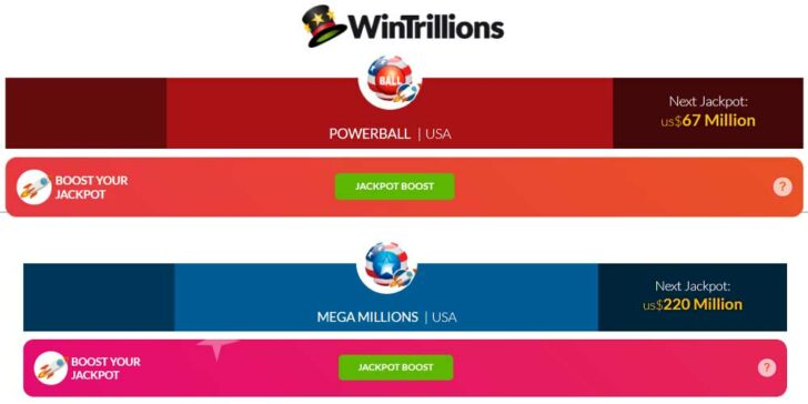 US MegaMillions and Powerball promotions