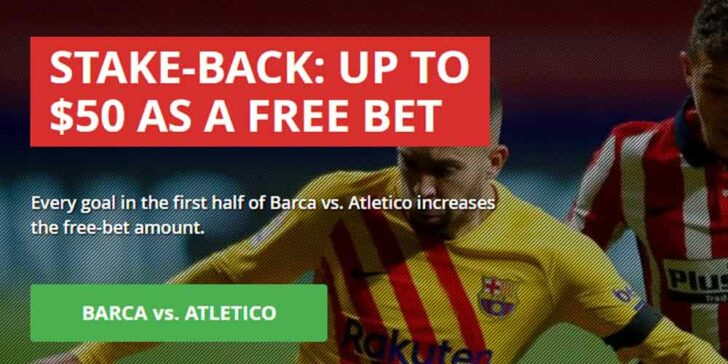 Barca v Atletico Free Bet Offers at Intertops – Get a $50 Free Bet