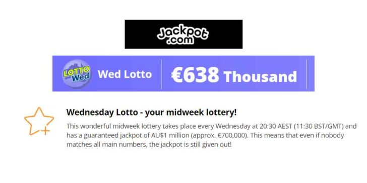 Play Wednesday Lotto Online and Win a Jackpot of AU$1 Million