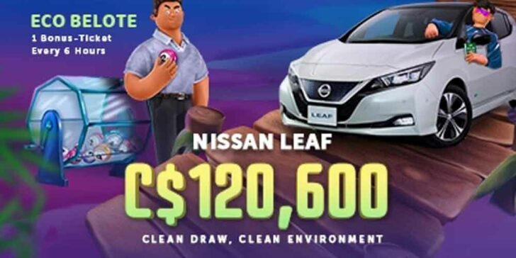 Win a Nissan Leaf at Vbet Casino – Win €80,000 and Most Eco Clean Car