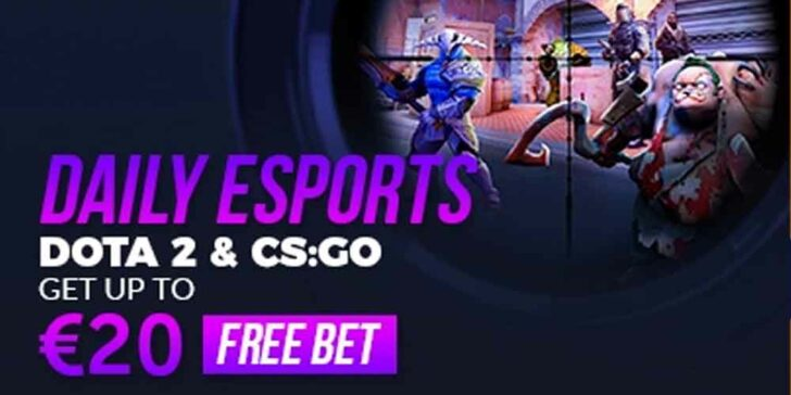 daily eSports free bets