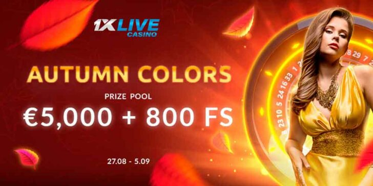 Live Casino Promotion: Win a Share of the €5,000 Prize Fund Plus 800 FS!