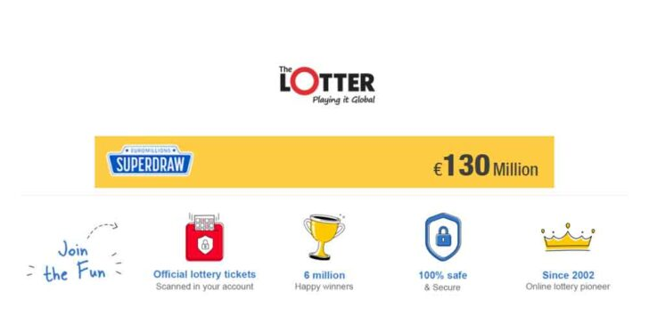 Play Euro Millions Superdraw Online with a Jackpot of €130 Million!