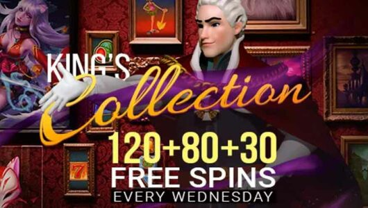 Weekly Free Spins Offer: 120 + 80 + 30 Free Spins Every Wednesday!